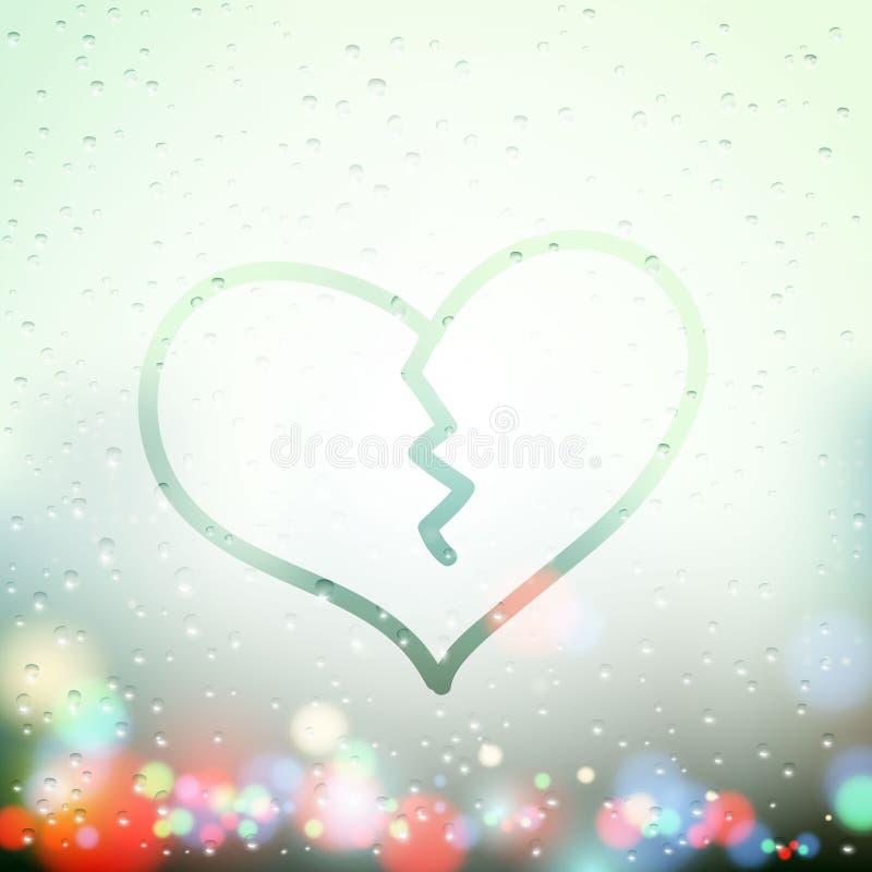 Σπασμένη ανθρώπινη καρδιά ελεύθερη απεικόνιση δικαιώματος