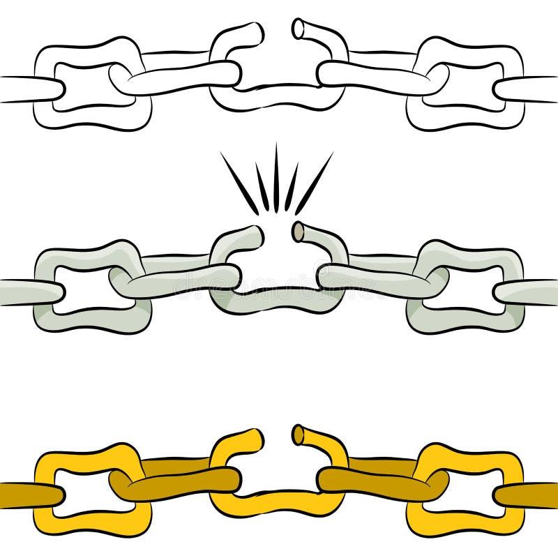Σπασμένη αλυσίδα συνδέσεων ελεύθερη απεικόνιση δικαιώματος