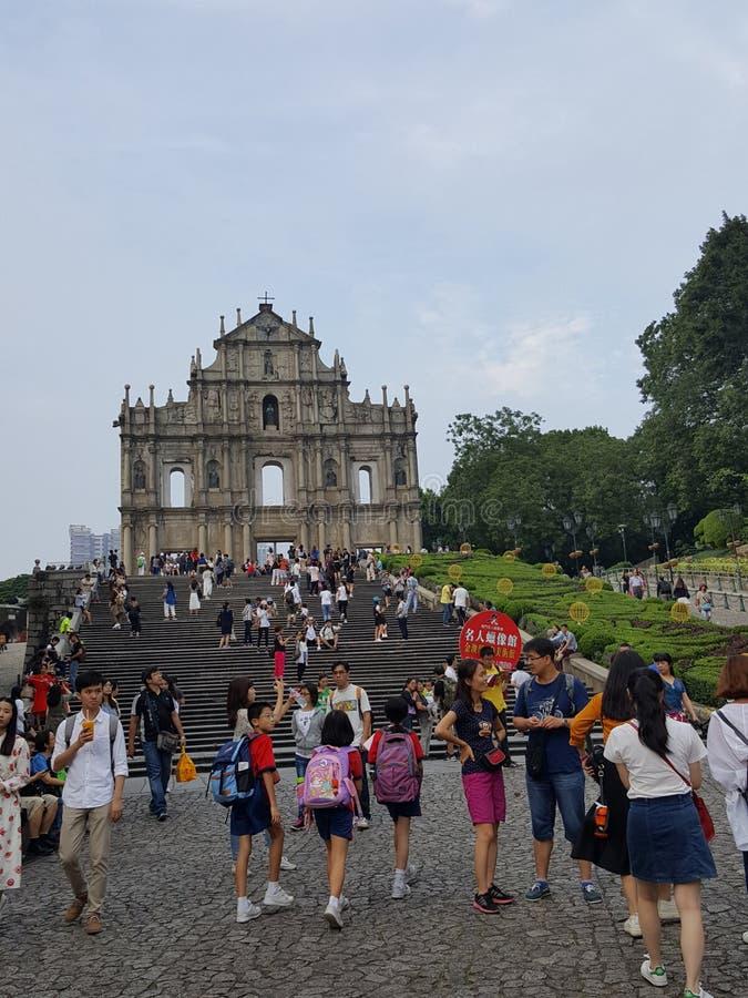 Σπασμένη εκκλησία Μακάο στοκ φωτογραφία