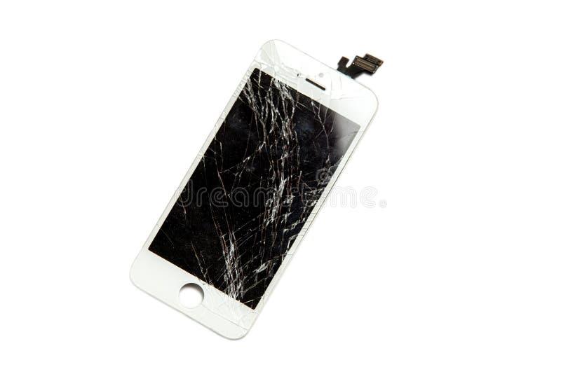 Σπασμένη επίδειξη του κινητού τηλεφώνου στοκ εικόνες