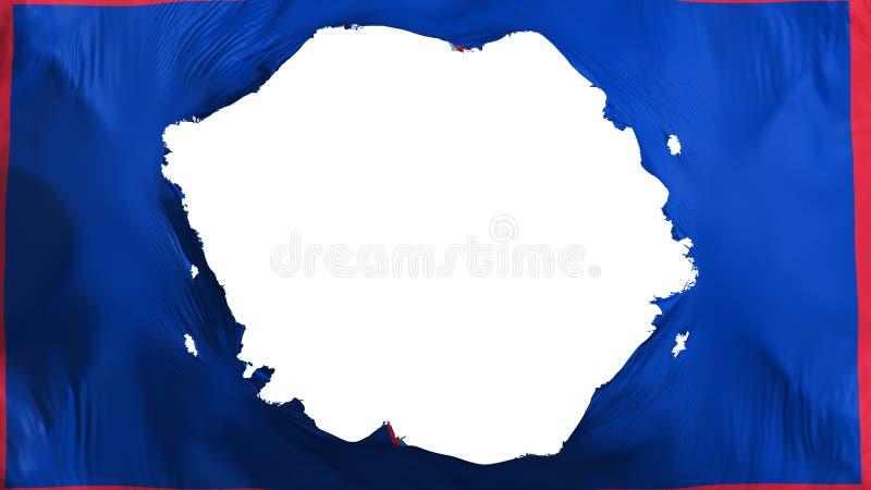 Σπασμένη κρατική σημαία του Γκουάμ ελεύθερη απεικόνιση δικαιώματος