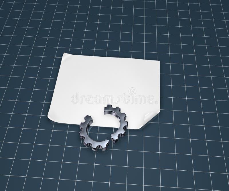 Σπασμένο cogwheel απεικόνιση αποθεμάτων