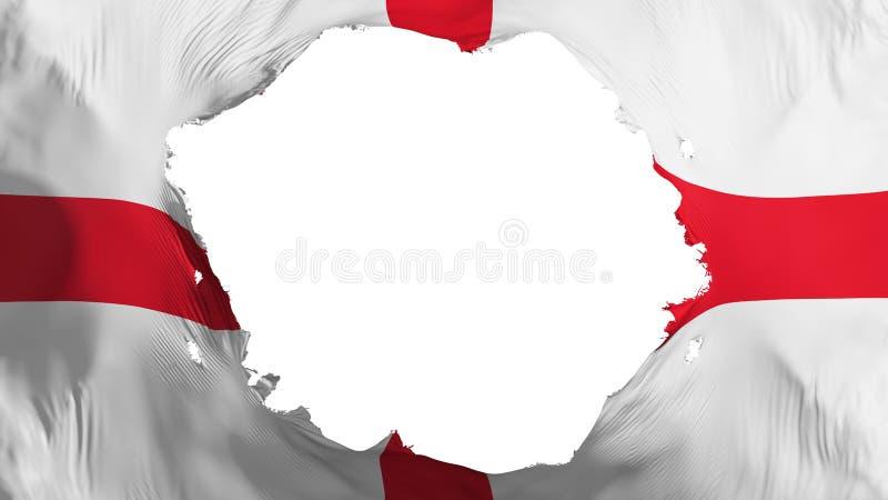 Σπασμένη σημαία της Αγγλίας ελεύθερη απεικόνιση δικαιώματος