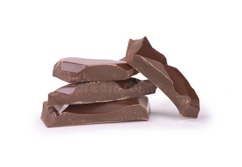σπασμένη σοκολάτα στοκ εικόνες με δικαίωμα ελεύθερης χρήσης