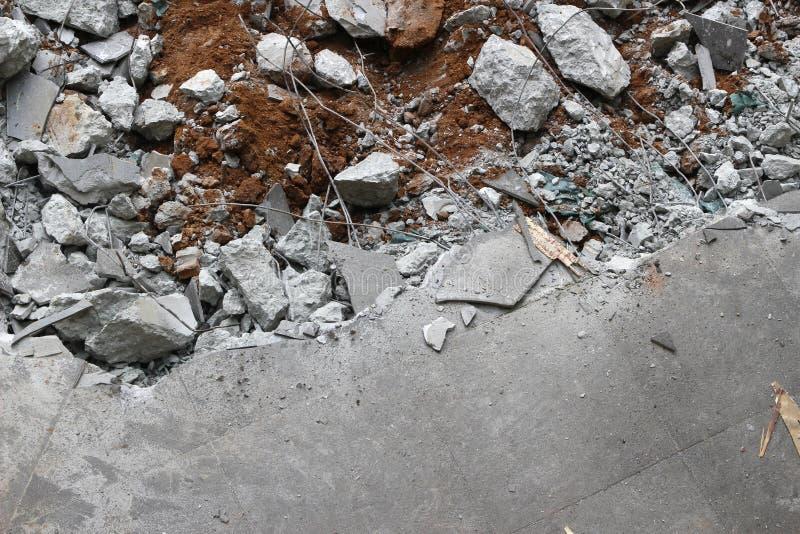 Σπασμένη συγκεκριμένη πλάκα πατωμάτων στοκ φωτογραφίες με δικαίωμα ελεύθερης χρήσης