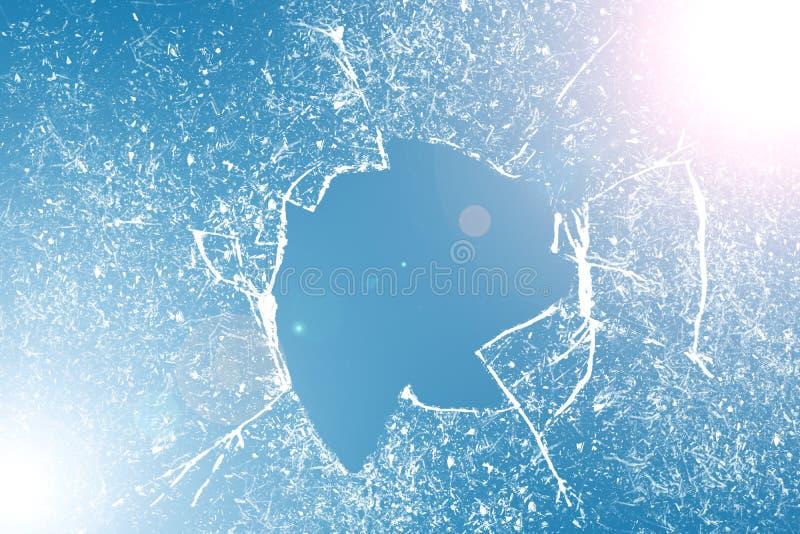 Σπασμένη σύσταση γυαλιού Ρεαλιστική ραγισμένη επίδραση γυαλιού, στοιχείο έννοιας στοκ φωτογραφίες με δικαίωμα ελεύθερης χρήσης