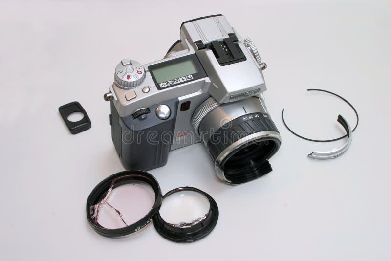 σπασμένη φωτογραφική μηχαν Στοκ Εικόνες