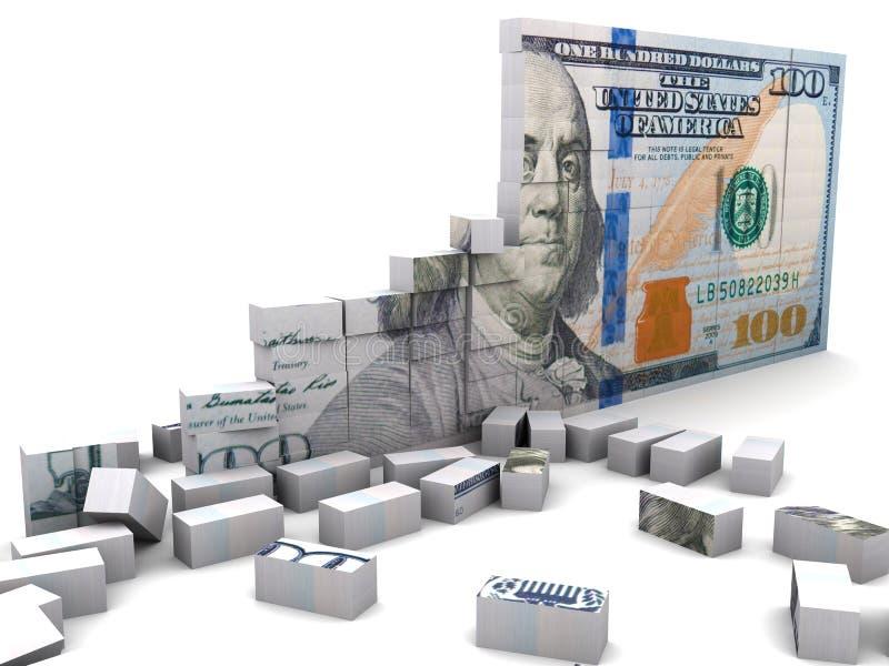 Σπασμένος οικονομικός απεικόνιση αποθεμάτων