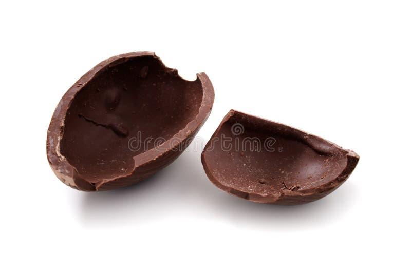 σπασμένο αυγό Πάσχας σοκολάτας στοκ φωτογραφίες με δικαίωμα ελεύθερης χρήσης