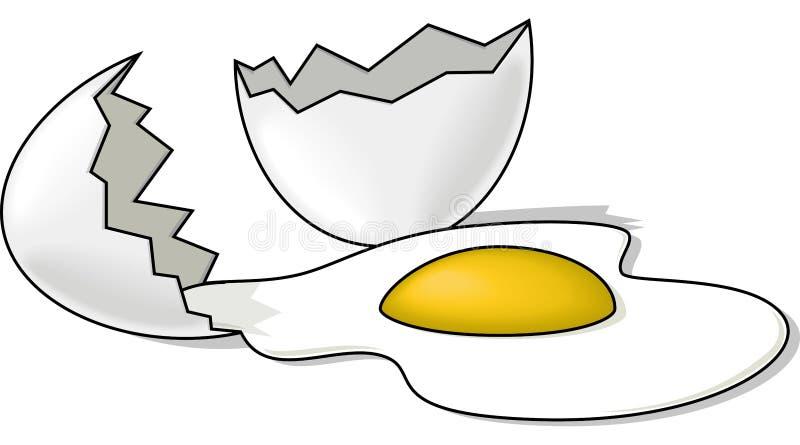 σπασμένο αυγό ελεύθερη απεικόνιση δικαιώματος