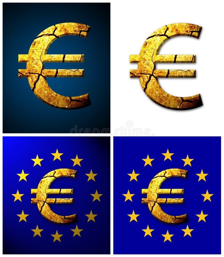 σπασμένο ευρώ στοκ εικόνα με δικαίωμα ελεύθερης χρήσης