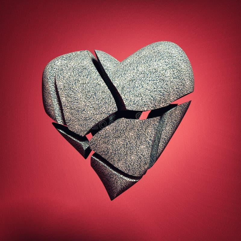 Σπασμένο κόκκινο υπόβαθρο καρδιών απεικόνιση αποθεμάτων