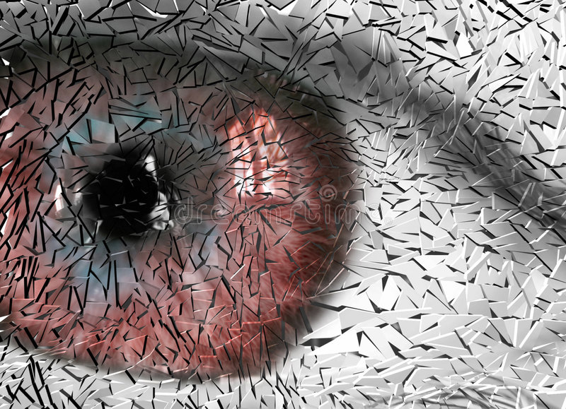 σπασμένο μάτι στοκ εικόνες με δικαίωμα ελεύθερης χρήσης