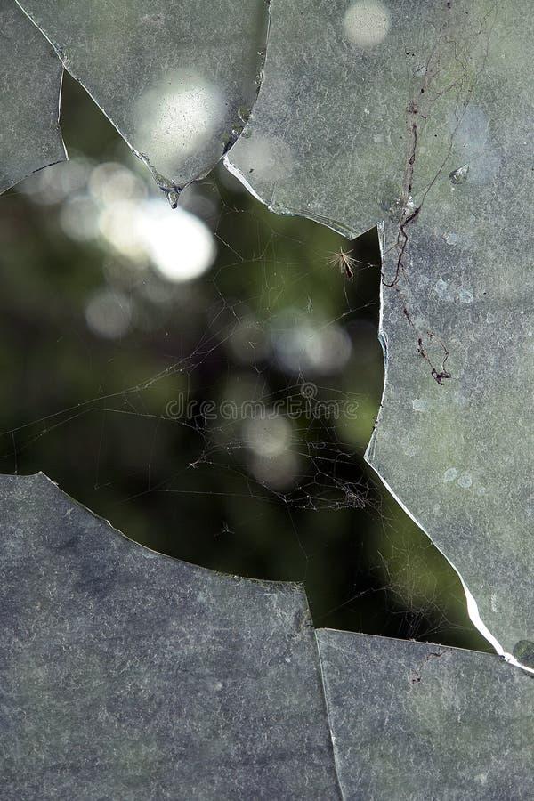 σπασμένο παράθυρο στοκ εικόνες