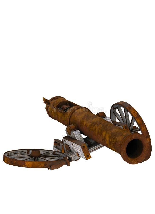 Σπασμένο πυροβόλο απεικόνιση αποθεμάτων