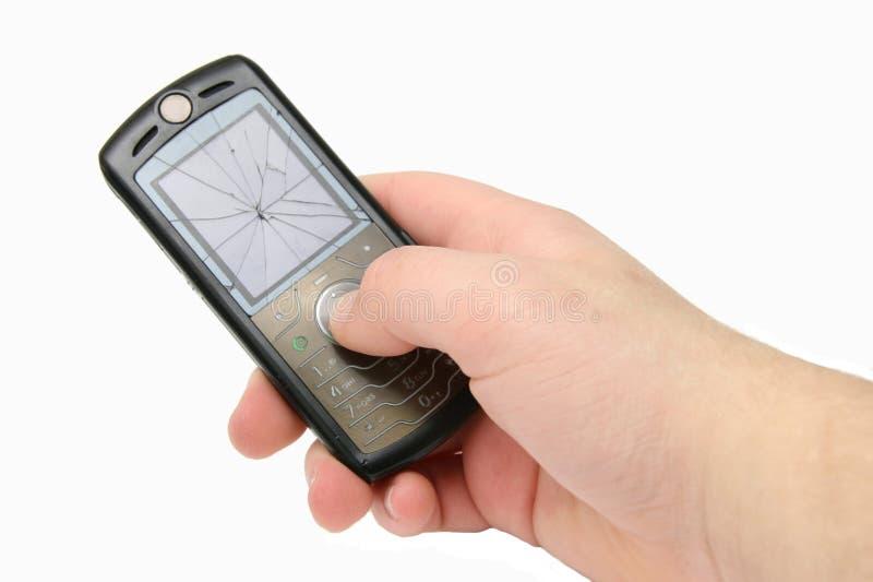 σπασμένο ραγισμένο κινητό τ& στοκ εικόνες με δικαίωμα ελεύθερης χρήσης