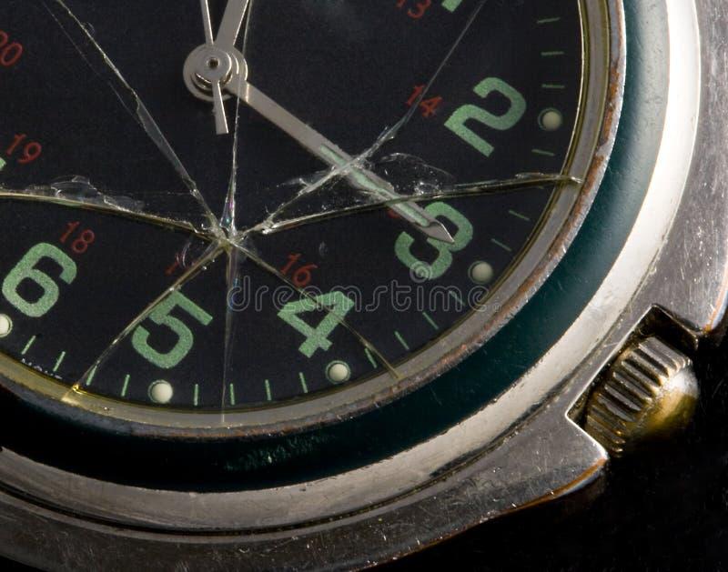 σπασμένο ρολόι στοκ φωτογραφίες
