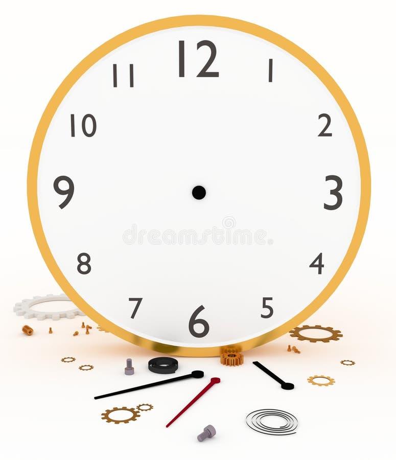 σπασμένο ρολόι διανυσματική απεικόνιση