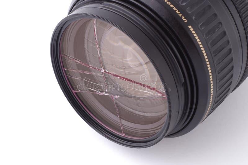 σπασμένο φίλτρο UV στοκ φωτογραφίες