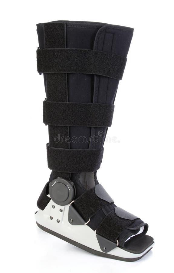 σπασμένο χυτό πόδι σύγχρον&omicron στοκ εικόνα