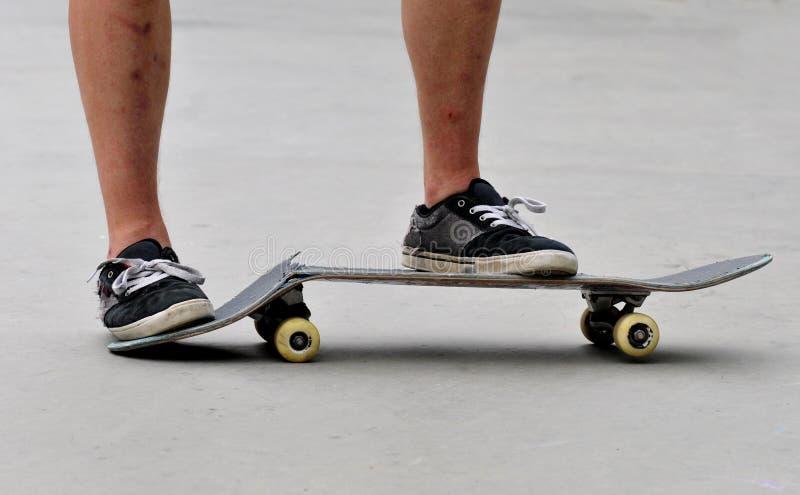 Σπασμένο skateboard στοκ φωτογραφίες