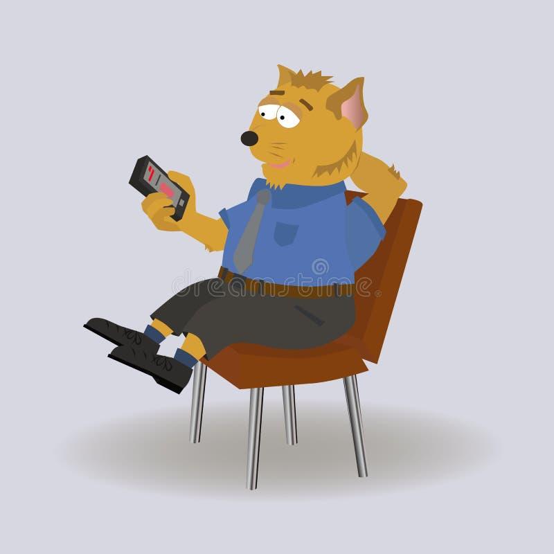 Σπατάλη του χρόνου στο τηλέφωνο στοκ εικόνα με δικαίωμα ελεύθερης χρήσης