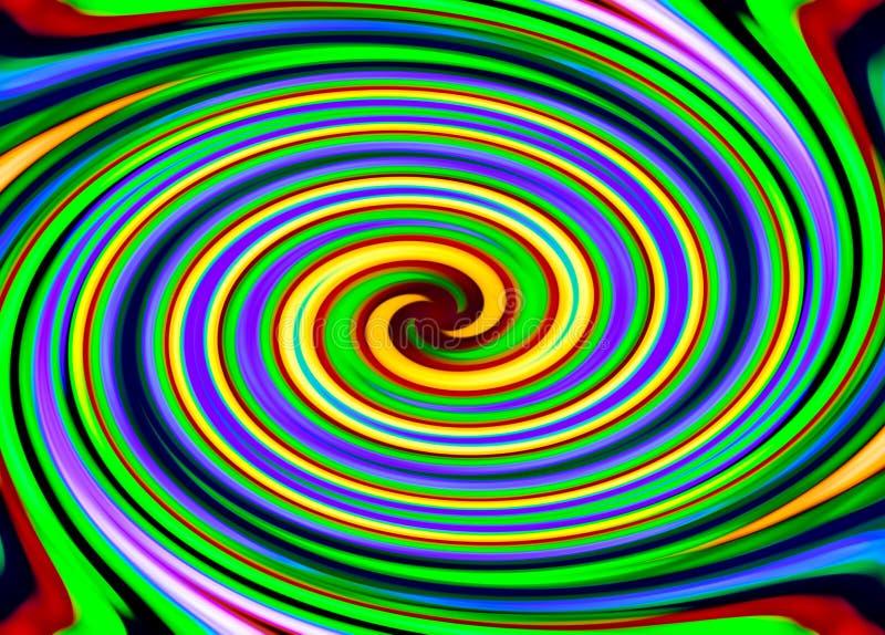 Σπείρα από τις ζωηρόχρωμες γραμμές απεικόνιση αποθεμάτων