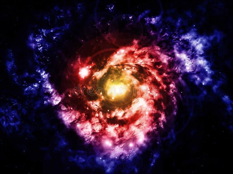σπείρα γαλαξιών διανυσματική απεικόνιση