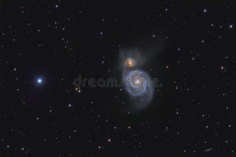 σπείρα γαλαξιών m51 στοκ εικόνες