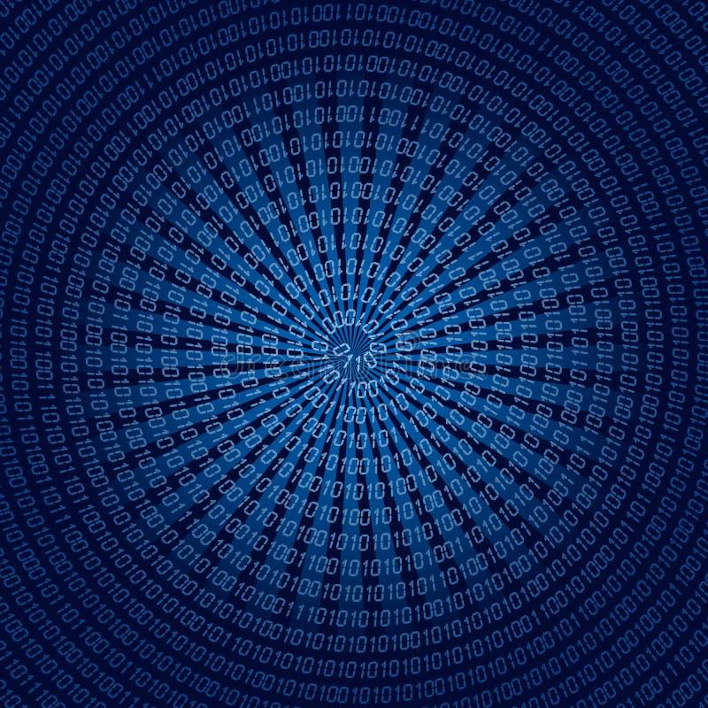 σπείρα δυαδικού κώδικα απεικόνιση αποθεμάτων