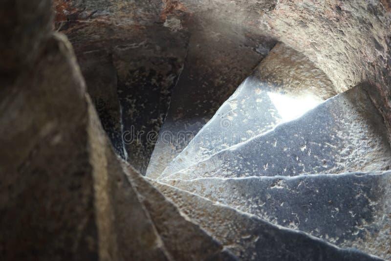 Σπείρα κάτω στα βάθη μπουντρουμιών στοκ εικόνα με δικαίωμα ελεύθερης χρήσης