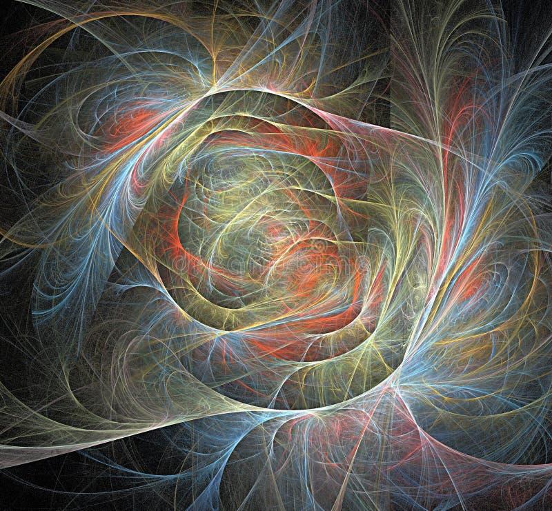 Σπείρα και fractal χρωμάτων απεικόνιση αποθεμάτων