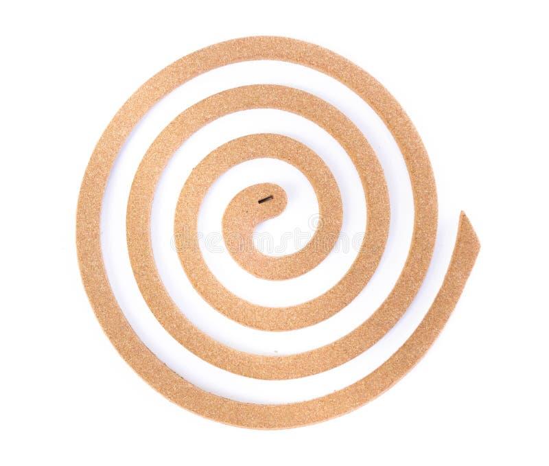 Σπείρα κουνουπιών με lemongrass που απομονώνεται στο άσπρο υπόβαθρο στοκ εικόνα με δικαίωμα ελεύθερης χρήσης