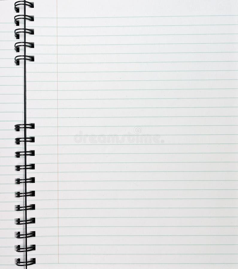 σπείρα σημειωματάριων στοκ φωτογραφία