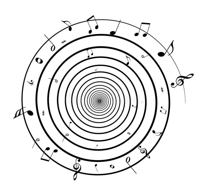 σπείρα σημειώσεων μουσι& διανυσματική απεικόνιση