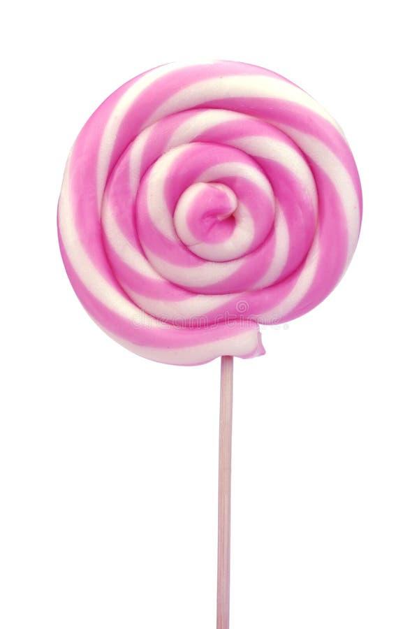 Σπείρα lollipop στο άσπρο υπόβαθρο στοκ εικόνες με δικαίωμα ελεύθερης χρήσης