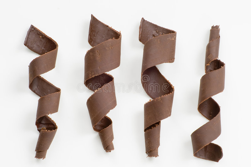 σπείρες σοκολάτας στοκ φωτογραφία