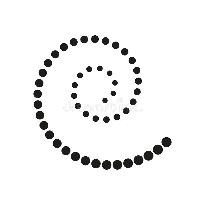 Σπειροειδής διανυσματική απεικόνιση Αφηρημένη μορφή στροβίλου με τα σημεία Διανυσματική απεικόνιση ανεμοστροβίλου r Σπειροειδές υ διανυσματική απεικόνιση