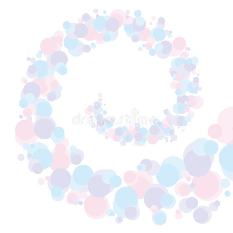 Σπειροειδής διανυσματική απεικόνιση φυσαλίδων μορφής αφηρημένη διανυσματική απεικόνιση
