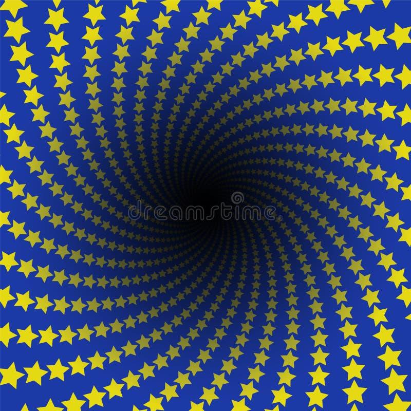 Σπειροειδής μαύρη τρύπα απείρου σχεδίων αστεριών απεικόνιση αποθεμάτων