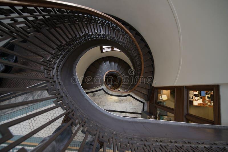 σπειροειδής σκάλα στοκ φωτογραφία