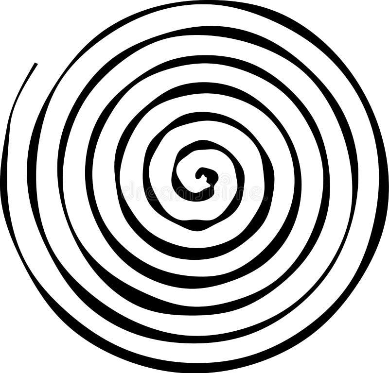 Σπειροειδής στρογγυλή μορφή Το στοιχείο του σχεδίου για να δημιουργήσει τα αφηρημένα σχεδιαγράμματα, καλύψεις, τυπωμένη ύλη σε χα διανυσματική απεικόνιση