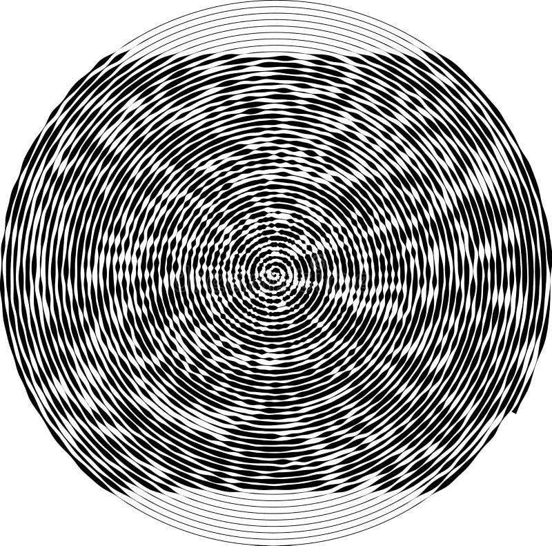 Σπειροειδής στρογγυλή μορφή Το στοιχείο του σχεδίου για να δημιουργήσει τα αφηρημένα σχεδιαγράμματα, καλύψεις, τυπωμένη ύλη σε χα απεικόνιση αποθεμάτων