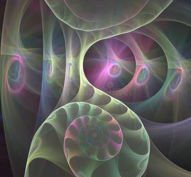 Σπειροειδής fractal νεφελωμάτων εικόνα απεικόνιση αποθεμάτων