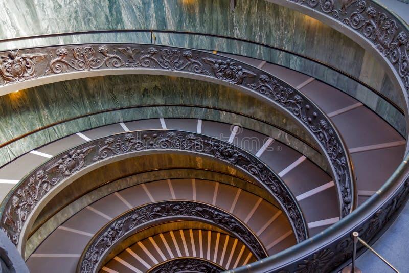 Σπειροειδή σκαλοπάτια των μουσείων Βατικάνου, πόλη του Βατικανού, Ιταλία στοκ εικόνες