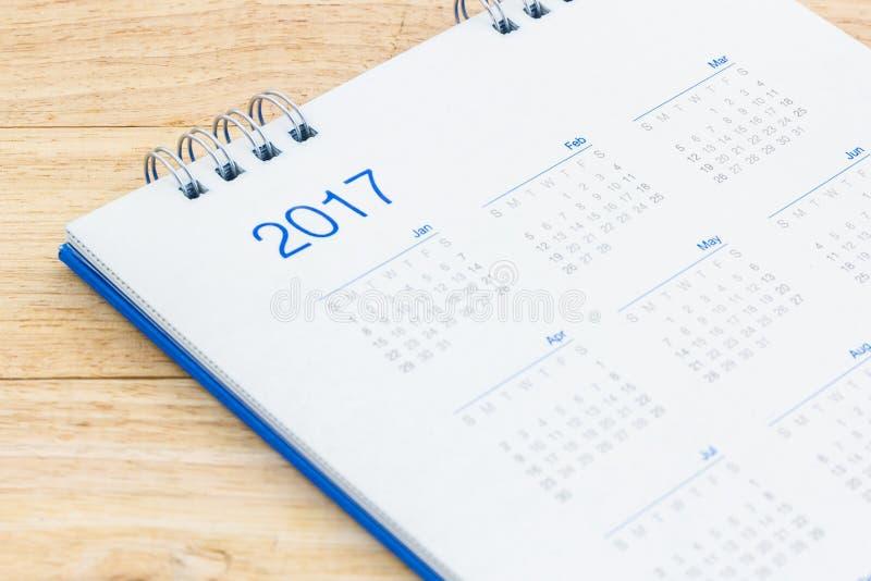 Σπειροειδές ημερολόγιο 2017 γραφείων της Λευκής Βίβλου στοκ εικόνες
