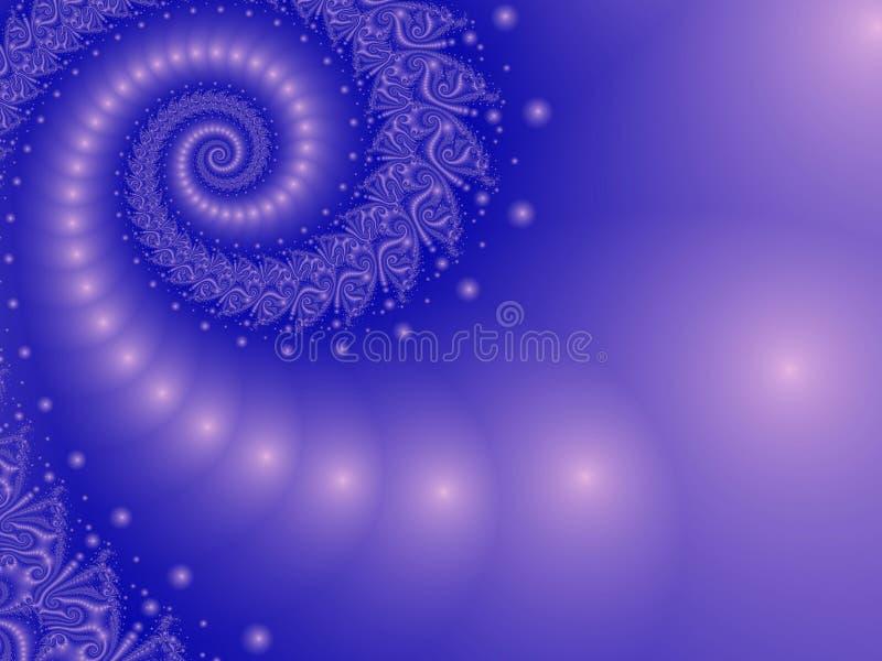 Σπειροειδές μπλε της Misty διανυσματική απεικόνιση