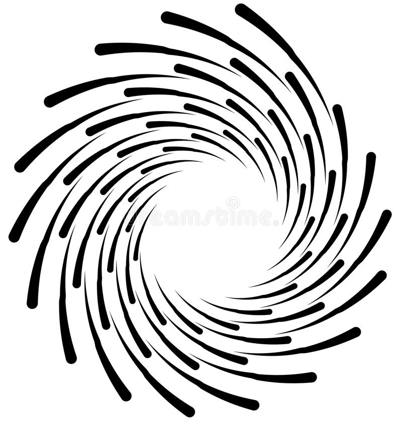 Σπειροειδές στοιχείο Ομόκεντρη στροβιλιμένος μορφή με τις γραμμές που περιστρέφονται μέσα ελεύθερη απεικόνιση δικαιώματος