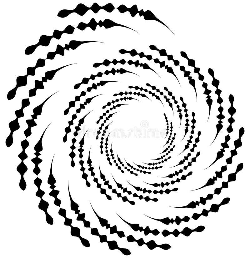 Σπειροειδές στοιχείο Ομόκεντρη στροβιλιμένος μορφή με τις γραμμές που περιστρέφονται μέσα απεικόνιση αποθεμάτων