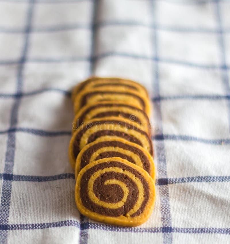σπειροειδή μπισκότα στοκ φωτογραφίες